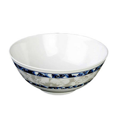 Thunder Group 5208DL 56 oz Blue Dragon Pattern Melamine Rice Bowl - 1 Doz