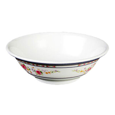 Thunder Group 5065AR 32 oz Rose Pattern Melamine Rimless Bowl - 1 Doz