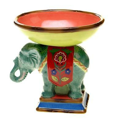 Elephant  3D Pedestal Bowl Candy or Soap Dish Tracy Porter Poetic Wanderlust
