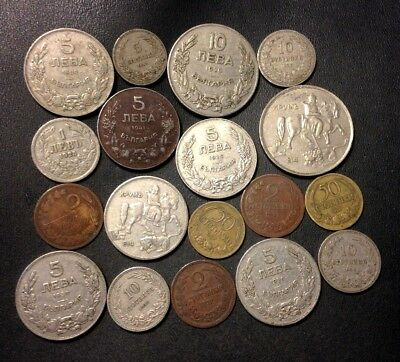 Old Bulgaria Coin Lot - 1901-1943 - 18 Uncommon Coins - Lot #524