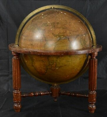 "Thomas Malby Terrestrial Table Globe 18"" circa 1855"