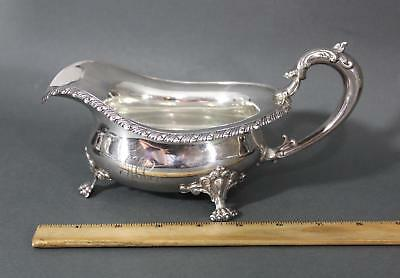 Antique FRANK W. SMITH American Sterling Silver Gravy Sauce Boat, 9.24 Troy Oz