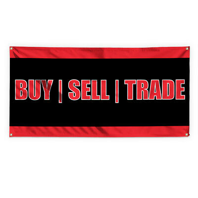Buy! Sell! Trade Advertising Printing Vinyl Banner Sign With Grommets