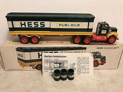 1976 Hess Truck With Original Box And Barrels
