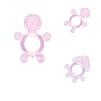 2 pcs Infant Animal Shaped Teether Toys Soft Silicone Training Baby Teeth
