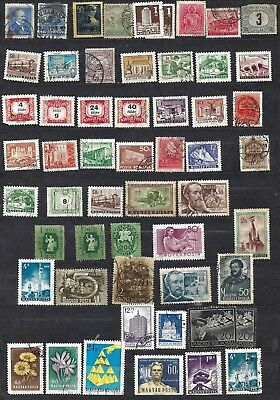 lot of mixed used HUNGARY stamps 3 PAGES 1st 3 scans MAGYAR POSTA
