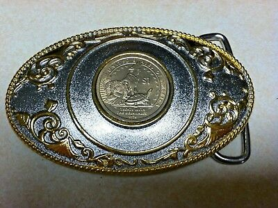 US $1 Coin Treaty with the Delaware Belt Buckle 2015FCM