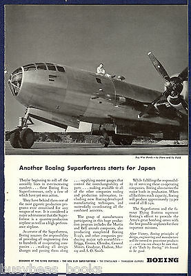 1944 Boeing Aircraft advertisement, B-29 SUPERFORTRESS photo