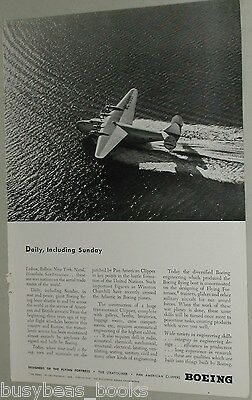 1942 Boeing Aircraft ad, Pan American Clipper 18601