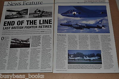BAe Sea Harrier, British magazine article, retirement of Royal Navy jump-jet