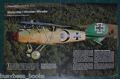 2011 magazine article: TVAL WWI Albatros D.V. New Zealand built reproduction