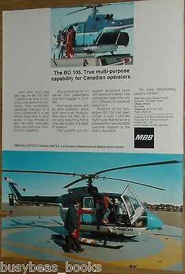 1985 MBB Helicopter advertisement, BO 105 Helicopter, Canadian ad