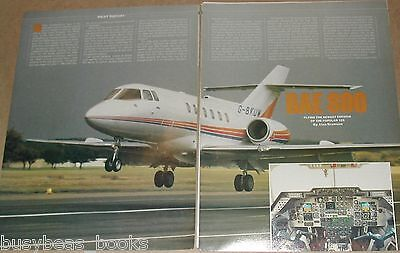1984 magazine article, flying the British Aerospace 800, pilots report