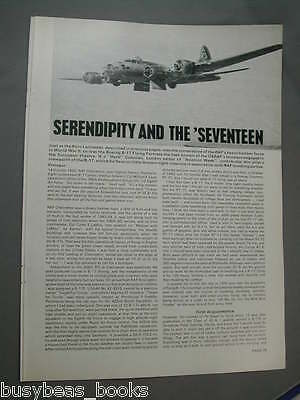 1976 article on Boeing B-17 Flying Fortress, cutaway, c