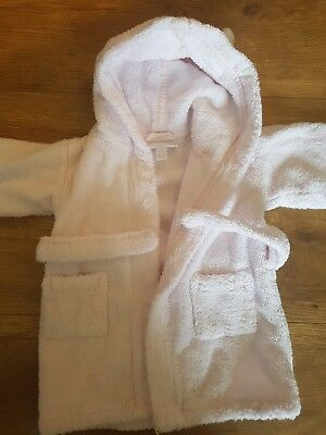 The Little White company baby girls towelling robe age 6-12 months