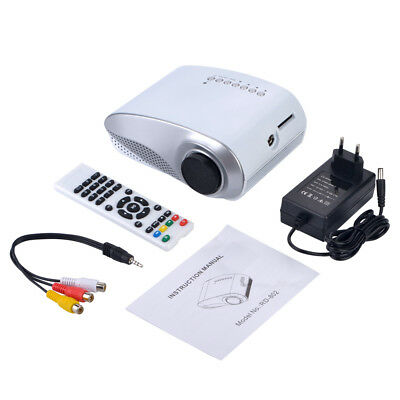 Neu Mini LED Beamer Heimkino Projektor HD 1080P Projector VGA AV USB HDMI ATV SD