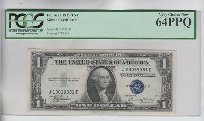 Silver Certificate $1 1935-B PCGS Graded very choice new 64PPQ