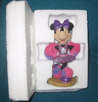 Disney Parks Minnie Mouse Bobblehead Cheerleader Brand New
