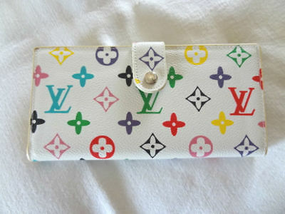 Vintage Estate Louis Vuitton Paris Made n France Wallet Multi Color Logo Pattern