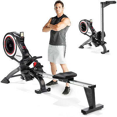 Marcy Onyx Geneva 6000 Rowing Machine Folding Air Resistance Indoor Gym Rower
