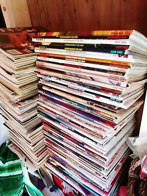 Playboy's magazines lot of 190 ...1980s to 2000s ..Good Condition