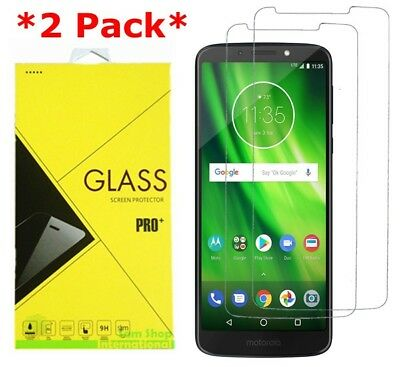 2X Premium Tempered Glass Screen Protector For Motorola Moto G6 Play Boostmobile