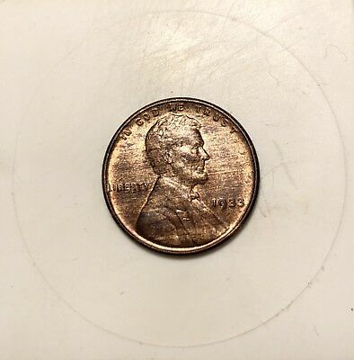 "1933 ""WOODIE"" Lincoln Wheat Cent - Woodgrain Planchet - Nice Example"