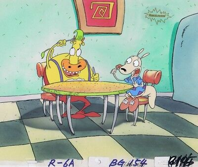 ROCKO'S MODERN LIFE Original Production Cel Cell 1990's Nickelodeon Heffer!