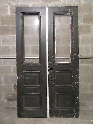~ ANTIQUE DOUBLE ENTRANCE FRENCH DOORS  ~ 47.75 x 85.5 ~  ARCHITECTURAL SALVAGE