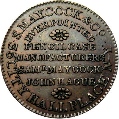 1837 New York City Hard Times Token Maycock Everpoint Pencil Case Eagle