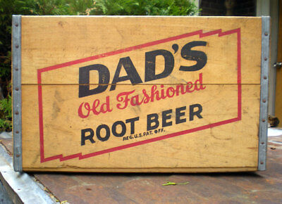 Antique Wooden Dad's Root Beer Soda Crate Incredible Condition Pop Bottle Case