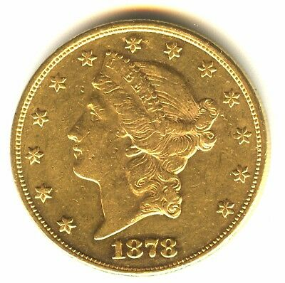 1878 P $20 Gold Piece Double Eagle MS 100% Original No Cleaning Has Chatter