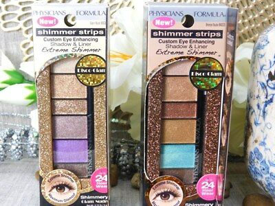 2 Lot Physicians Formula extreme shimmer strips eye shadow & liner 6635 6633