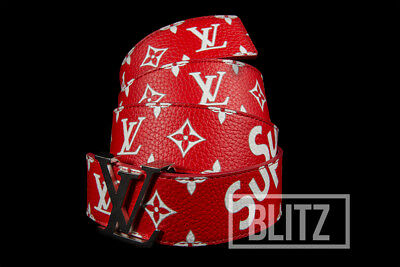 6694425ebf39 Supreme   Louis Vuitton Lv Initiales 40 Mm Belt Red Monogram Box Logo