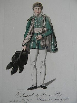 44 ANTIQUE HAND COLORED COSTUME ENGRAVINGS - Early 19th Century