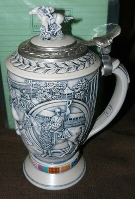 Avon Collectible Beer Stein Winner's Circle Horse Racing New in Box