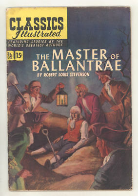 April 1951 CLASSICS ILLUSTRATED #82 THE MASTER OF BALLANTRE. Orginal