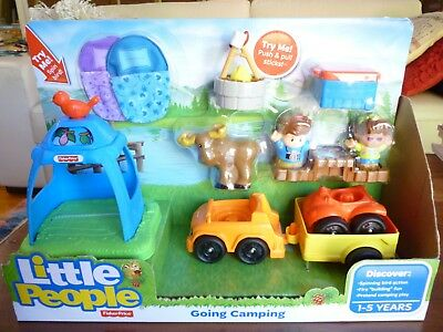Fisher Price LITTLE PEOPLE GOING CAMPING Set  BRAND NEW Still Sealed Melbourne