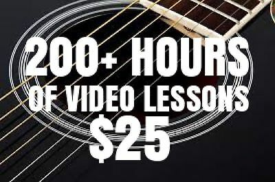 $25 for over 200 Hours Of Lessons! That's a lifetime of guitar, bass and MORE!
