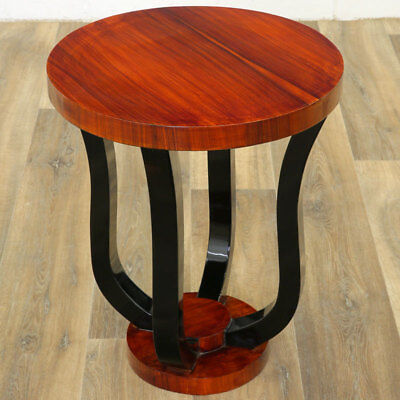Nussbaum TISCH, COFFEE TABLE, COCKTAIL TISCHCHEN braun ART DECO black SIDE TABLE