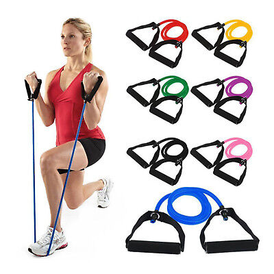 AU Exercise Pilates Gym Yoga Crossfit Fitness Tubes Resistance Bands Set Workout