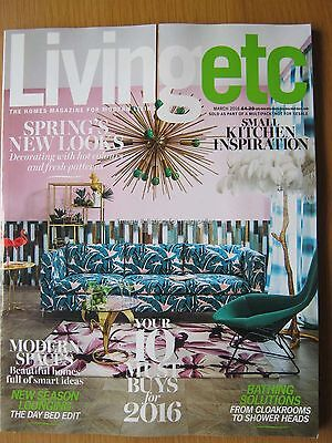Living Etc March 2016 Spring's New Looks Small Kitchen Inspiration Bathing