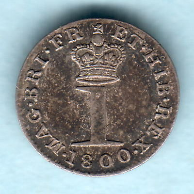 Great Britain.  1800 George 111 - Silver Penny.. EF/aEF - Trace Lustre