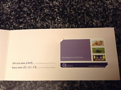 spa / hotel voucher for any Q Hotel value £109 great fathers day gift idea
