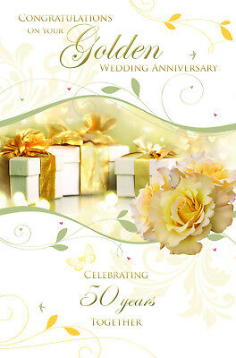 Wonderful colourful on your golden 50th wedding anniversary greeting wonderful colourful on your golden 50th wedding anniversary greeting card m4hsunfo