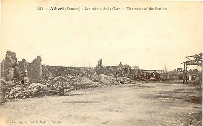 FRANCE ALBERT WWI The Ruins of the Railway Station mint pc