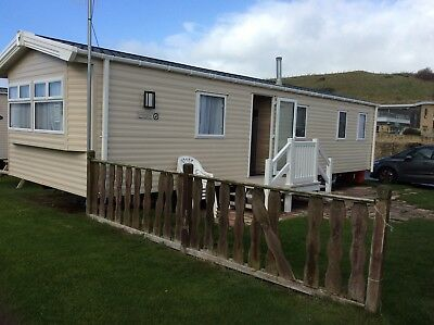 luxury willerby 2017 caravan hire On Freshwater Beach Dorset,21st-28th July