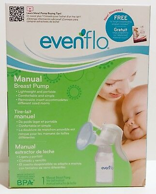 NEW Evenflo Manual Breast Pump MemoryFlex System Portable Easy to Clean