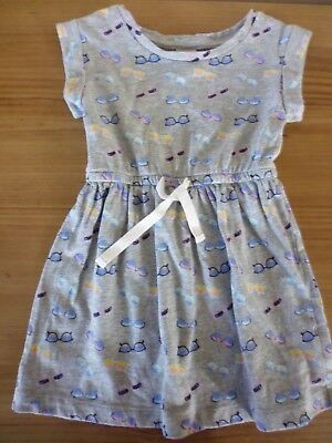 Baby Girls Grey With a Sunglasses Design Dress..from Baby Gap..Age 18-24 Months