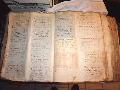Antique 1899 Prescription Pharmacy Book Ledger Rx Full Norwich CT 296 pages -